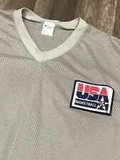 VINTAGE CHAMPION BRAND USA BASKETBALL DREAM TEAM MESH SHOOTING SHIRT SZ L