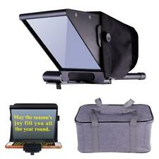 Mini Beam Splitter Teleprompter & Bag for iPhone/PC/Android Smartphone