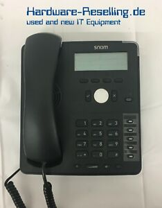 Snom D715 Telefono IP Nero con Cavo Sip Sraps Poe IPv4/IPv6