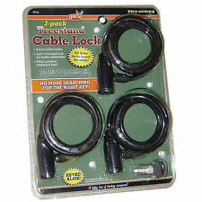 HME Treestand Cable Lock Keyed 6' 3/pk.