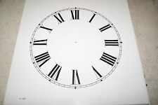 CLOCK DIAL NEW  WALL / MANTEL CLOCK PARTS 10 INCH WHITE COLOR DIAL
