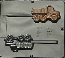 FREE SHIP NEW 2 Cav DUMP TRUCK Chocolate Candy Fondant Plaster Clay Lolly Mold