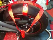 Trackbike Transport Tie Down Wheel Strap Polyester webbing Strap RED BSB