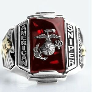 US Military Marine Corps Ring Eagle Medal American Sniper Tun Taverk
