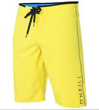 O'NEILL SANTA CRUZ BOARD SHORTS TRUNKS SWIM BOTTOMS PANTS YELLOW SZ 33 NEW! $45