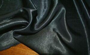 1m x 1.45m 'LEILANI BLACK' Silk Blend Faille Sateen Fabric, Sewing Material
