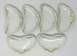 6 ROYAL Semi-Porcelain China, JOHNSON BROS, England White China Crescent Dish