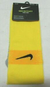 Nike Matchfit Yellow Men Soccer Sock size  L (8 - 12)