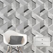 marblesque geometrisch Marmor TAPETE Grau Silber - feine Dekor fd42302