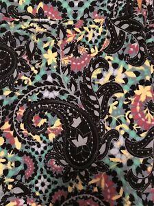 NWOT LuLaRoe TC Leggings Gorgeous Jungle Rainbow Black Floral Paisley Vintage