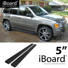 Running Board Side Step 5in Black Fit Chevy Trailblazer (02-06 GMC Envoy) 02-09
