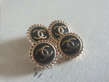 Set of 4 Chanel Vintage Stamped Buttons 16MM