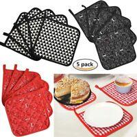 """5 Packs Potholders Trivets Kitchen Heat Resistant Cotton Hot Pads Pot Holders 8"""""""