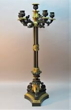 "Fine Early 19th C. FRENCH EMPIRE GILT BRONZE 28"" Candelabra  c. 1830  antique"