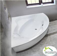 Badewanne Eckbadewanne 150 x 150 cm Schürze Acryl symmetrisch Ab / Überlauf BO
