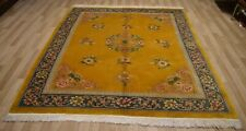 Rare 1940's Handmade Chinese  Art Deco Rug  8Ft x 10 Ft Free Express Shipping