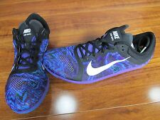 NEW Nike Zoom Waffle Running Spikeless Track Shoes Mens 10 Grape Black Blue $90.