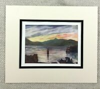 1905 Antique Print Sundal Norway Norwegian Sunset Landscape Painting