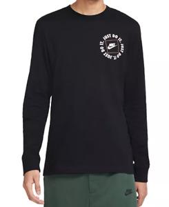 Nike T Shirt Mens Just Do It JDI Cotton Long Sleeve Tee Black 3XL or 4XL DA0332