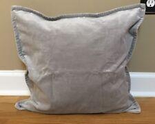 """NEW Pottery Barn Washed Velvet 20"""" Pillow Cover + Insert ALLOY GRAY"""