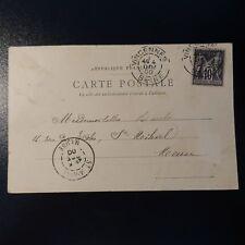 FRANCE SAGE N°103 N/B SUR LETTRE COVER CAD VINCENNES -> ST MIHIEL