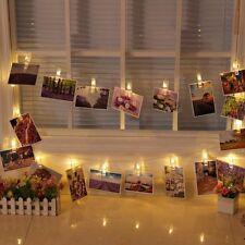 Pinzas con luz led para decoración fotografías 12 pinzas Bodas  Cumpleaños