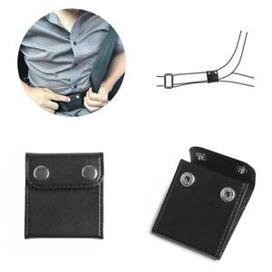 Black Car Seat Belt Adjuster Shoulder Neck Strap Positioner Clip Protector 2pcs