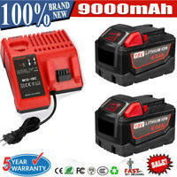 For Milwaukee M18 XC 9.0 AH Extended Lithium-ion Battery 48-11-1890/Charger