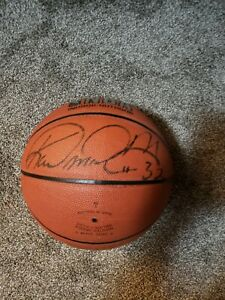 Karl Malone Rodman Signed Ball
