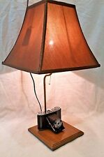 Vintage Wirgin Bellows Camera Lamp Upcycled
