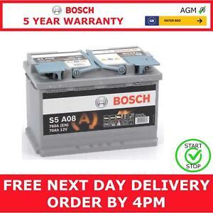 Bosch S5A08 Car Battery 12V AGM Start Stop 5 Yr Warranty Type 096