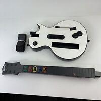 Guitar Hero Gibson Les Paul White Nintendo Wii Controller Wireless w/ Strap