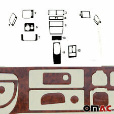 Wooden Dashboard Console Trim Cover Kit 12 Pcs For Audi A6 1998-2004