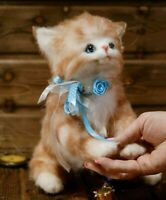 "OOAK Artist teddy bear cat 8""    OOAK Artist teddy bear kitten 8"""