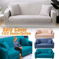 1/2/3 Seater Stretch Chair Sofa Cover Slipcover Couch Loose Furniture   R