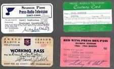 Rare 1956-57 Montreal Canadiens Press Pass Signed Frank Selke Camil Desroche!