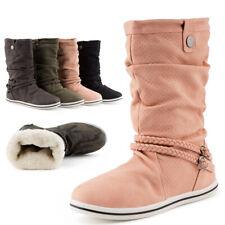 Neu Damen Schlupf Stiefeletten Boots Flache Stiefel Warm Gefüttert 1962 Schuhe