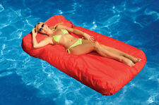 New Swimline Solstice 15030R SunSoft Swimming Pool Inflatable Fabric Lounger Red