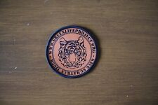 Embroided Woven Badge (Save Sumatran Tiger) 65mm in diameter