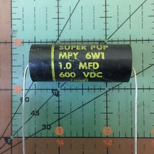 CORNELL DUBILIER AXIAL MET PAPER CAPACITOR 1uF 600v MPY6W1 1mfd VINTAGE AUDIO
