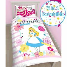 ALICE IN WONDERLAND CURIOUS SINGLE DUVET COVER SET 100% OFFICIAL KIDS BEDDING