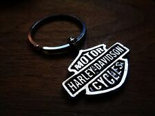 Harley Davidson Motorcycle Key Chain Dealership Biker Badge Emblem Zipper Pull