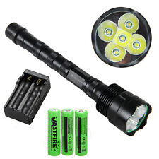 Super Bright 10000LM 5X XML T6 LED Tactical Flashlight Light Torch Hunting Lamp