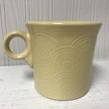 Fiesta Retired Horizons Fan Mug Yellow - Ring Handle Coffee Mug Cup Fiestaware