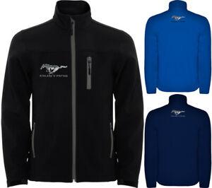 Ford Mustang Softshell Jacke Blouson Veste Mantel Outdoor Travel Sport Racing