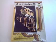 """Open Door String Art Designer Kit """"Mountain Loco"""" Steam Engine Train, 9x12"""""""
