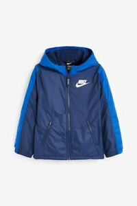 Nike Boys Fleece Lined Jacket Blue/Navy Size XL 158/177cm New with Tag Free P&P