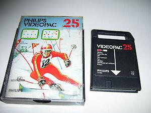 Philips Videopac Game 1980 * 25 SKIING * RETRO
