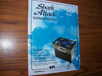 GAME PLAN SHARK ATTACK VIDEO GAME FLYER BROCHURE 1981
