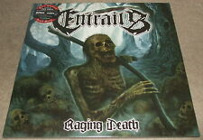 ENTRAILS-RAGING DEATH-2013 LP RED VINYL-LIMITED TO 150 ONLY-NEW & SEALED